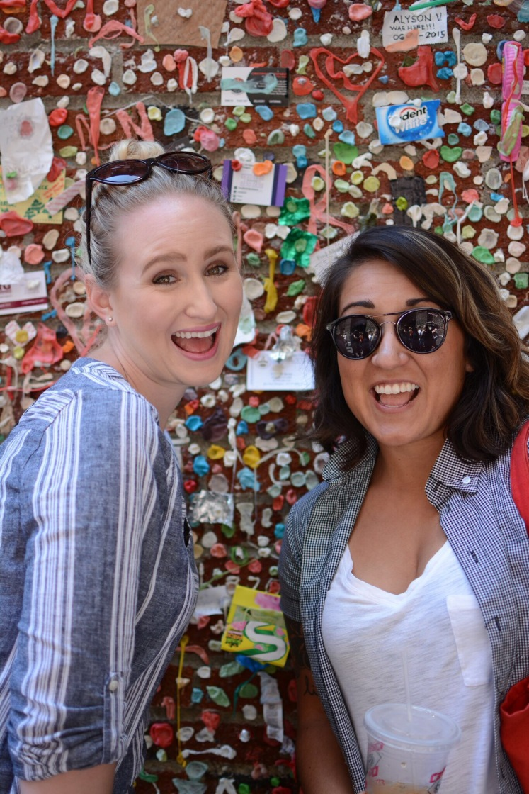 gum wall vibes with a bestie, bitch.